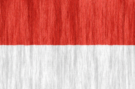 Indonesia free flag (large)
