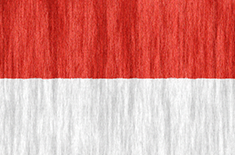 Indonesia free flag (medium)