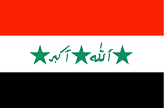Iraq flag - medium - style 1