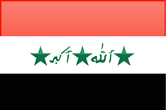 Iraq flag - medium - style 4
