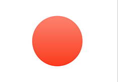 Japan flag - medium - style 3