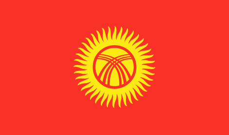 Kyrgyzstan flag - large - style 1