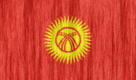 Kyrgyzstan flag - large - style 2