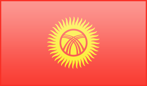 Kyrgyzstan flag - large - style 3