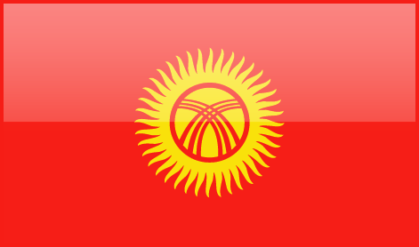 Kyrgyzstan flag - large - style 4
