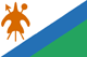 Lesotho flag - small - style 1