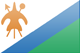 Lesotho flag - small - style 3