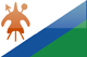 Lesotho flag - small - style 4