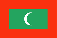 Maldives flag - medium - style 1