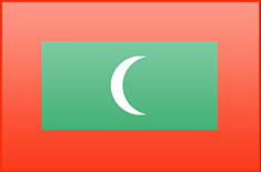 Maldives flag - medium - style 3