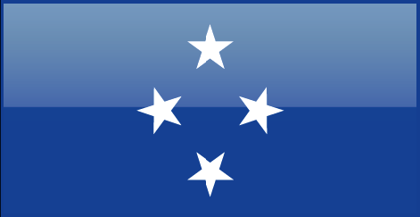 Micronesia flag - large - style 4