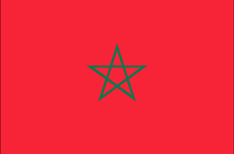 Morocco flag - large - style 1
