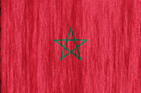 Morocco flag - large - style 2