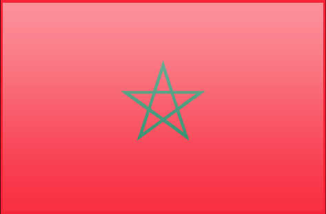 Morocco flag - large - style 3