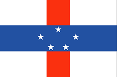 Netherlands Antilles free flag (medium)