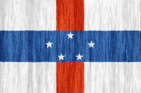 Netherlands Antilles free flag (large)