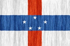 Netherlands Antilles flag - medium - style 2