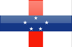 Netherlands Antilles flag - medium - style 4