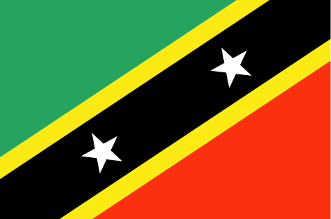 Saint Kitts and Nevis flag - large - style 1