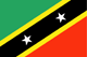 Saint Kitts and Nevis flag - small - style 1