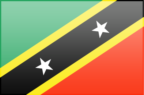 Saint Kitts and Nevis flag - large - style 3
