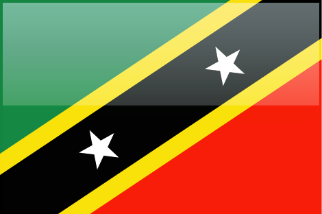 Saint Kitts and Nevis flag - large - style 4