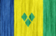 Saint Vicent and the Grenadines flag - small - style 2