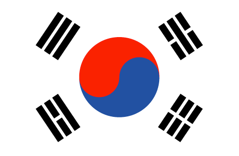 South Korea flag - large - style 1