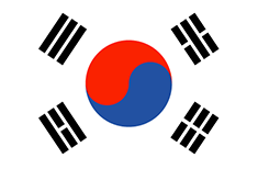 South Korea flag - medium - style 1