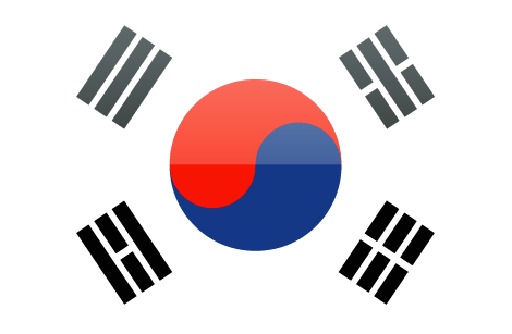 South Korea flag - large - style 4