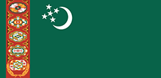 Turkmenistan flag - medium - style 1