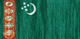Turkmenistan flag - small - style 2