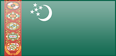 Turkmenistan flag - medium - style 3