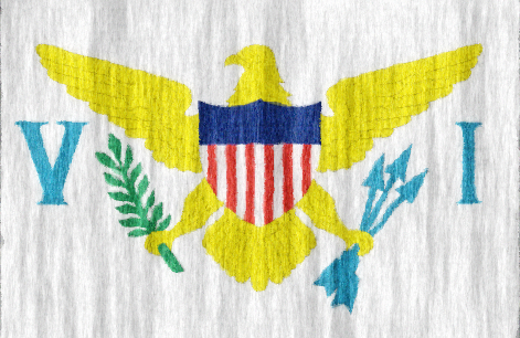 US Virgin Islands flag - large - style 2