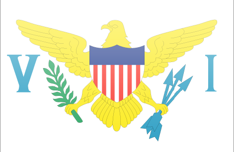 US Virgin Islands flag - large - style 3