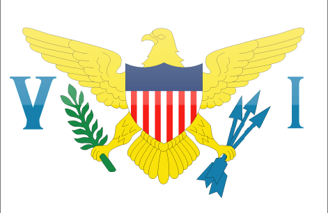 US Virgin Islands flag - large - style 4