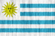 Uruguay flag - small - style 2